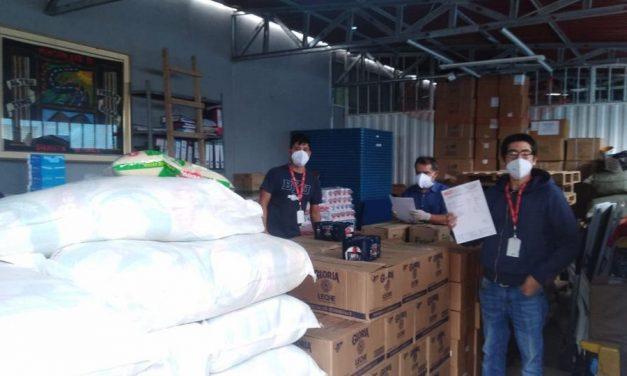 La Iglesia de Jesucristo dona alimentos y equipos de bioseguridad en Perú