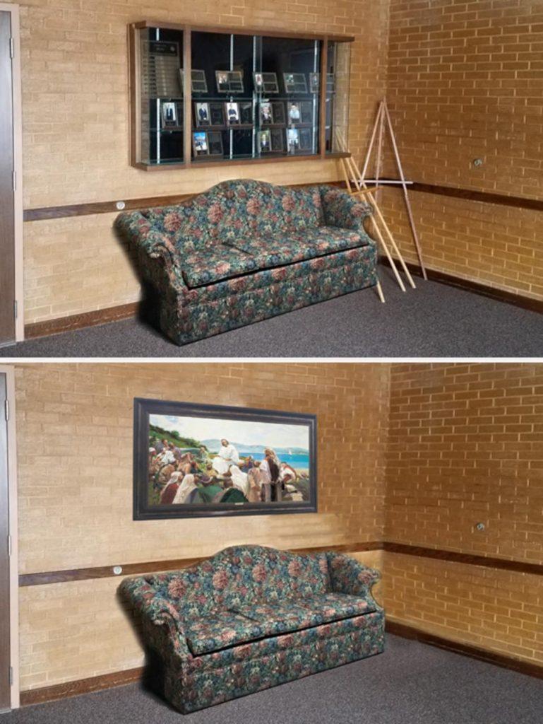 centros de reuniones antes y después