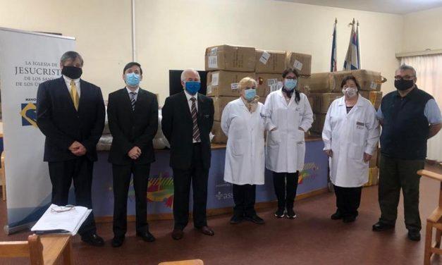 La Iglesia de Jesucristo realiza donaciones a hospitales para hacerle frente a la pandemia en Uruguay