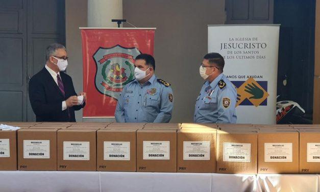 La Iglesia de Jesucristo dona 60 000 mascarillas a la Policía Nacional en Paraguay