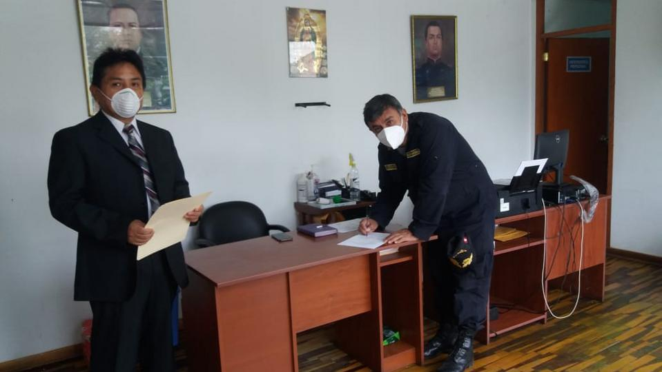Donación a la Policía Nacional del Perú