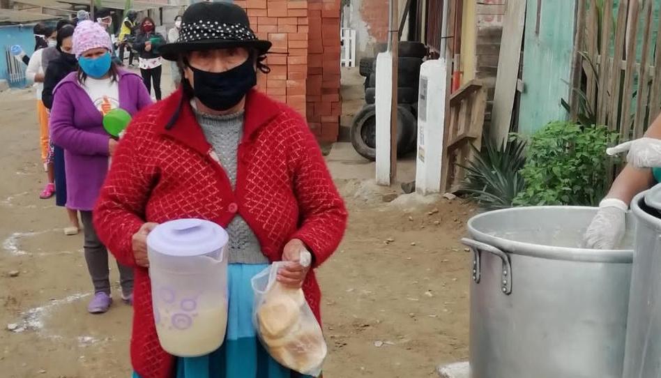 La Iglesia de Jesucristo dona alimentos para familias vulnerables en Perú