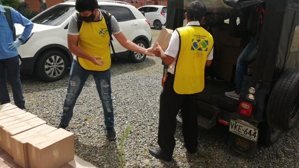 donación de alimentos en Colombia