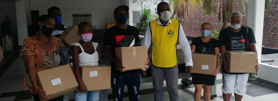 La Iglesia de Jesucristo dona alimentos a 800 familias en Colombia