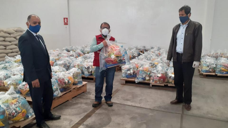 donación de alimentos para familias
