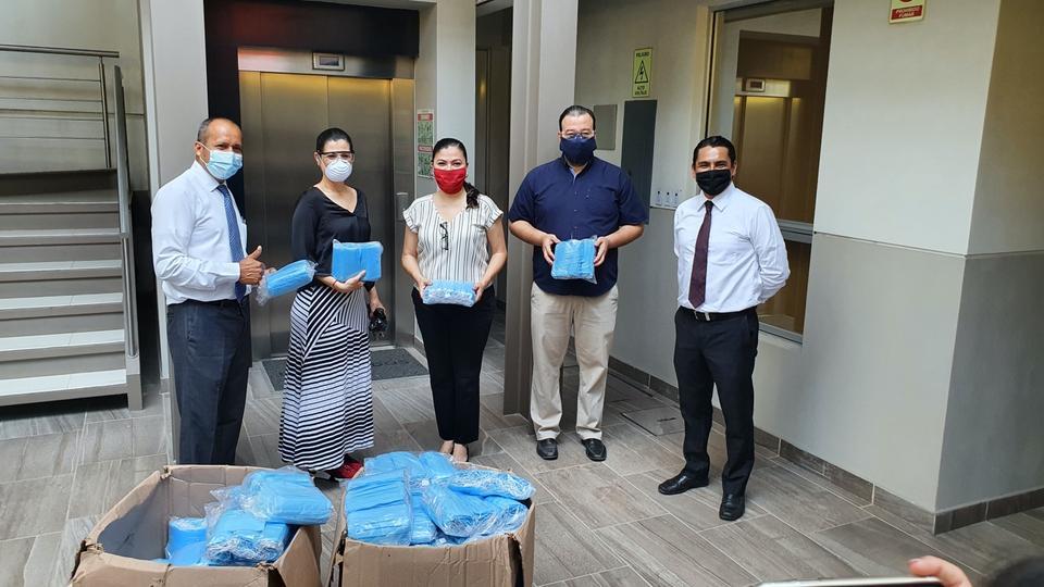 donación de mascarillas en México