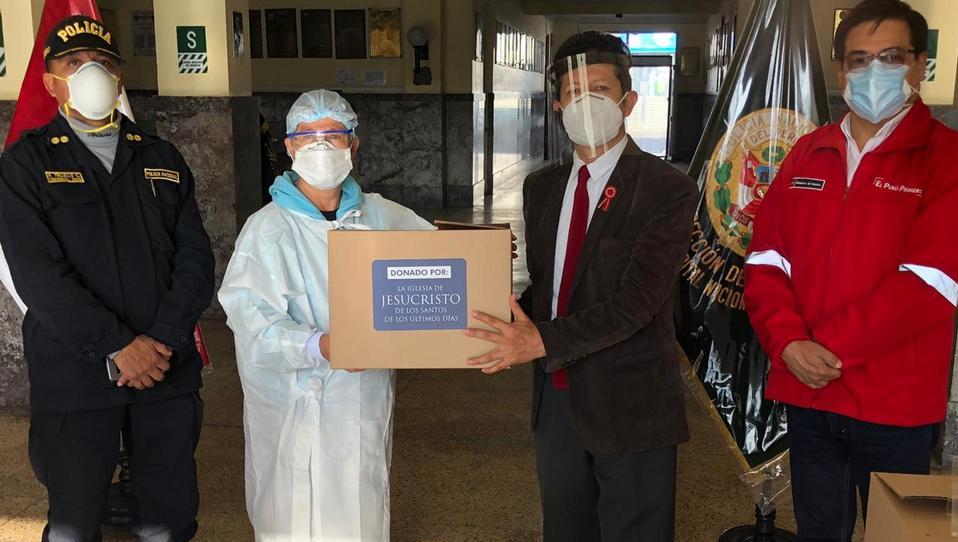 La Iglesia de Jesucristo realiza importante donación a los Hospitales de la Policía Nacional del Perú