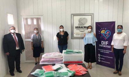 Hermanas de la Sociedad de Socorro confeccionan 2 000 cubrebocas para ser donados en México