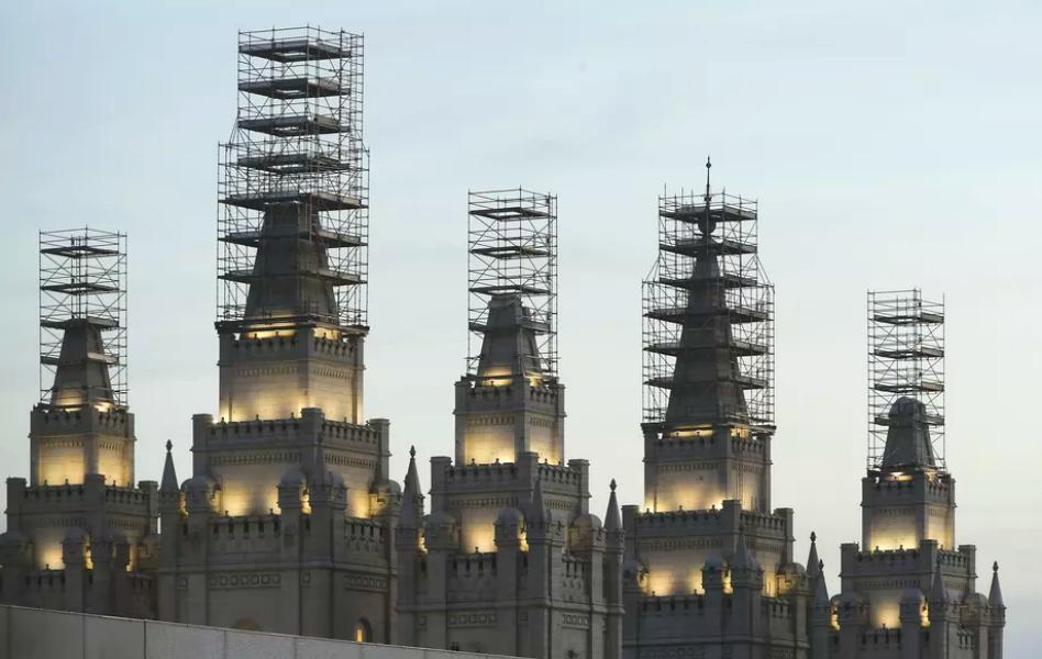 Así va luciendo el Templo Salt Lake a 6 meses de su renovación