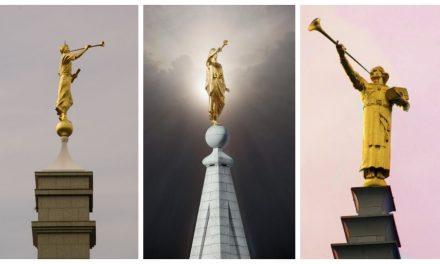 Mira aquí las diferentes versiones de la estatua del ángel Moroni a lo largo del tiempo