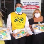 Iglesia de Jesucristo dona mascarillas en Brasil