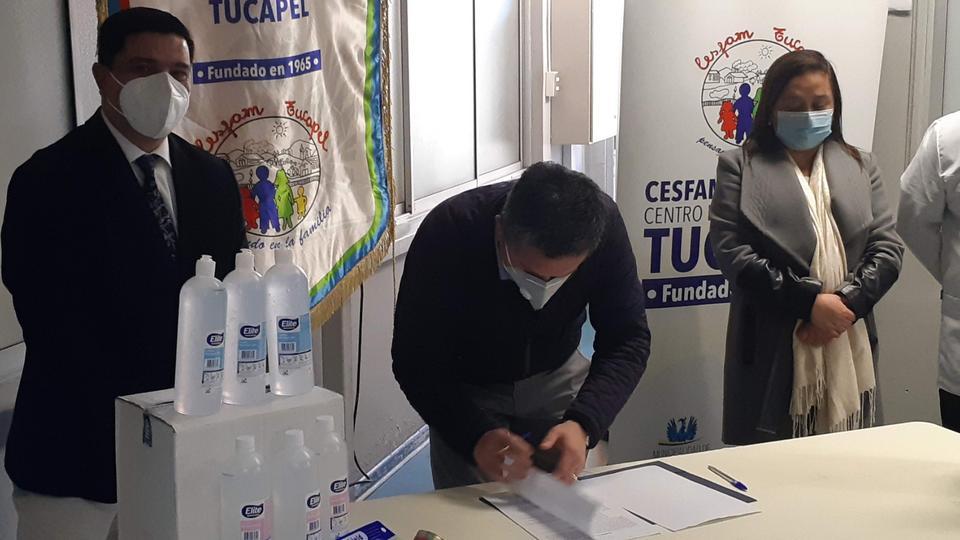 Personal de salud en Chile - donación
