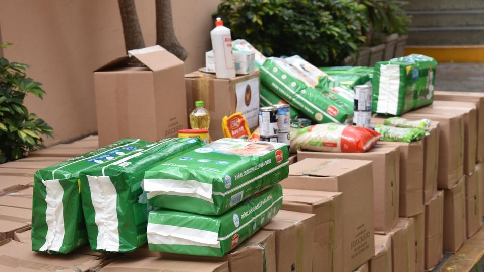 donación a albergues de familias en Perú