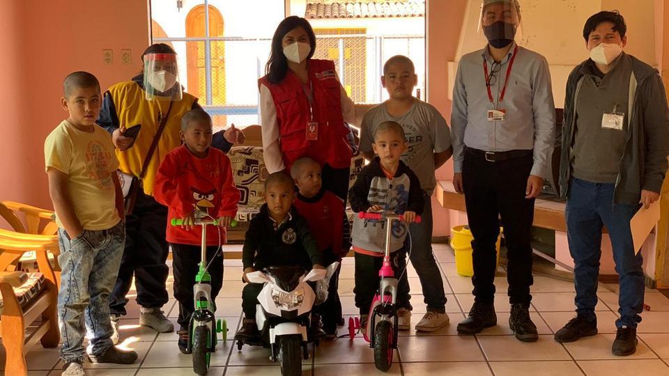 donación a albergues de niños en Perú