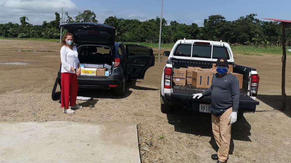 donación de artículos de bioseguridad en Panamá