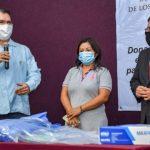 donación para los médicos a Coatzacoalcos