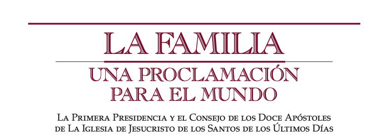 familia - proclamación