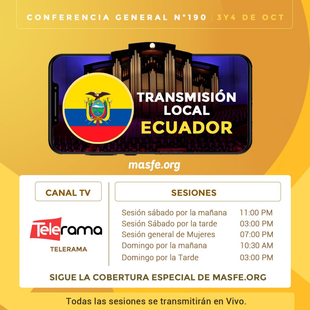 Conferencia general Tv Ecuador
