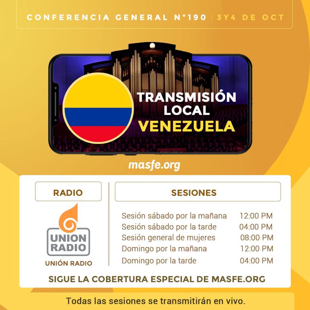 conferencia general por TV y radio Venezuela