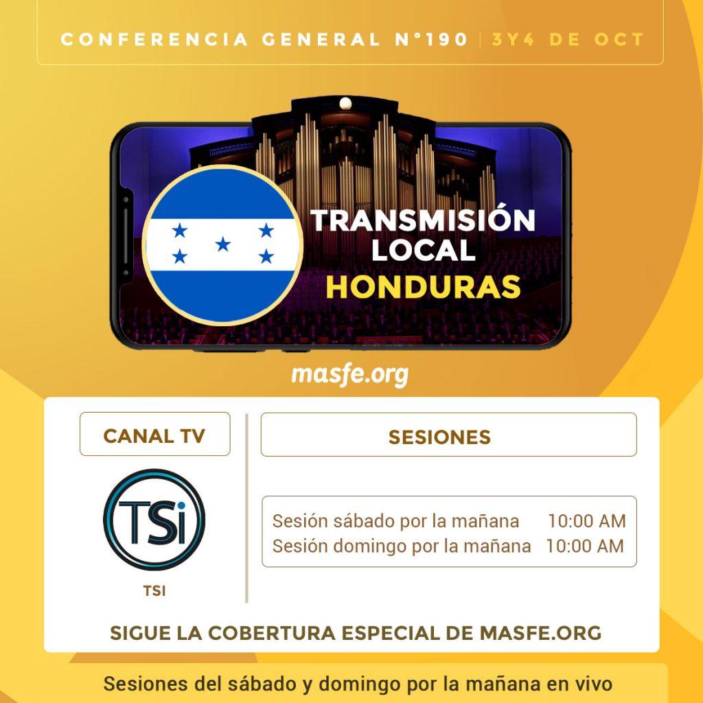 Conferencia en TV - Honduras