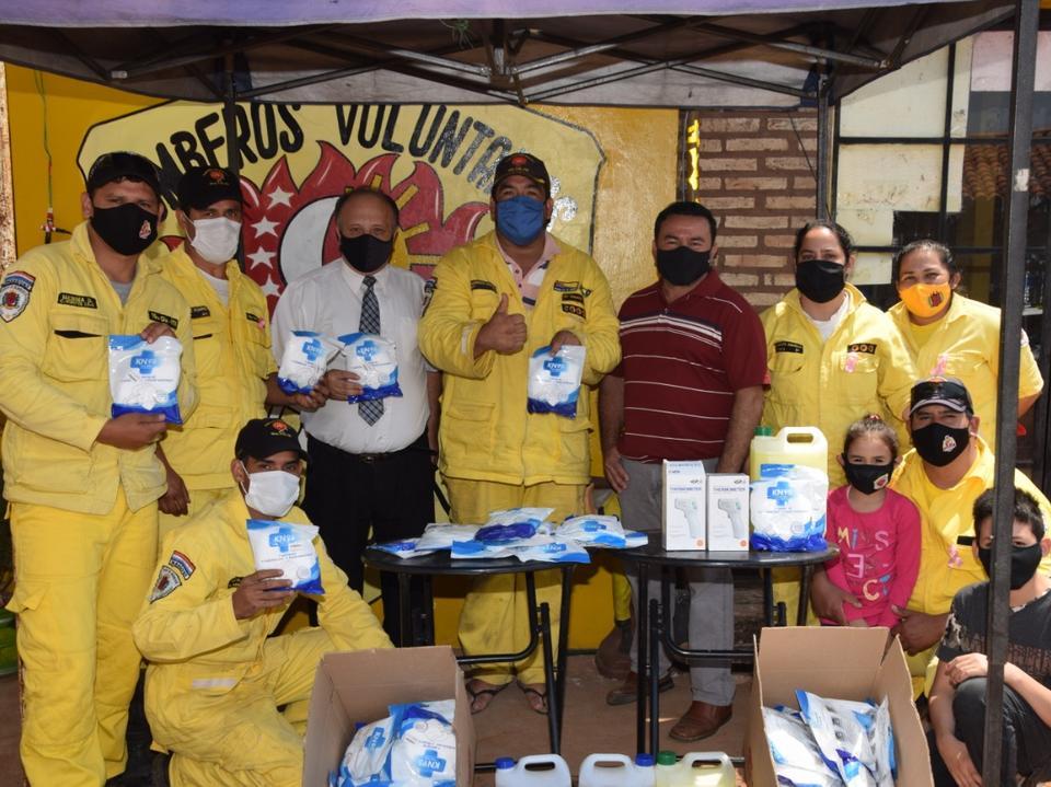 donación a bomberos