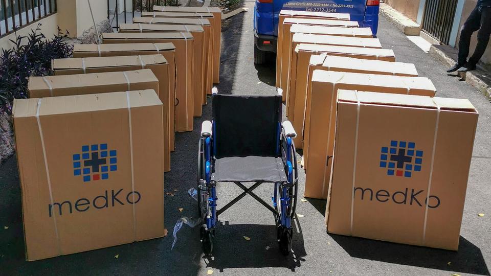 donación sillas de ruedas Honduras