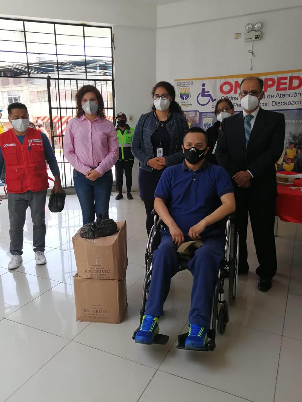 donación a personas con discapacidad