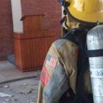 se incendia capilla en República Dominicana