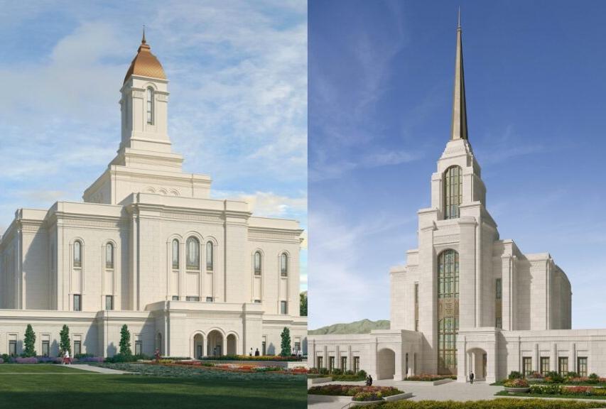 La Primera Presidencia de La Iglesia de Jesucristo de los Santos de los Últimos Días ha anunciado la palada inicial para dos templos en Utah.