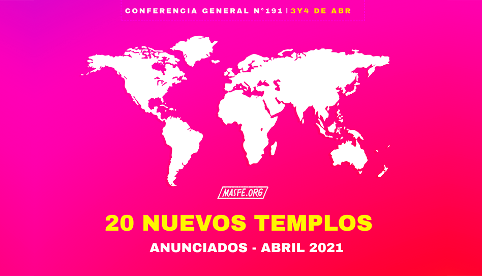 Presidente Nelson anuncia 20 nuevos templos