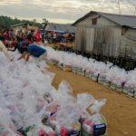 Donación en la selva peruana