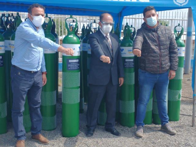 donación de balones de oxígeno