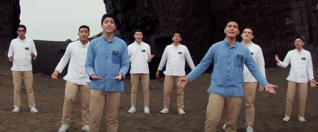 """""""Hermoso Nombre"""" es la canción que interpreta un grupo de misioneros latinos de la Misión Lima Oeste"""