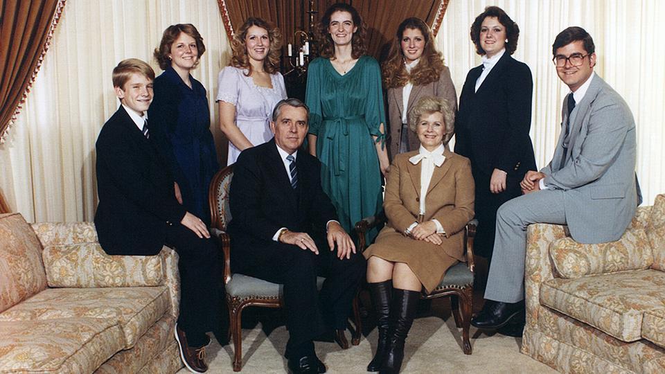 presidente Ballard como padre