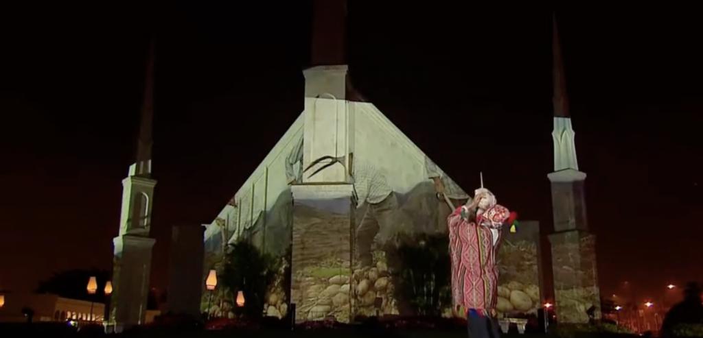 Un momento histórico se vivió hoy desde los jardines del Templo de La Iglesia de Jesucristo de los Santos de los Últimos Días en Lima, Perú.