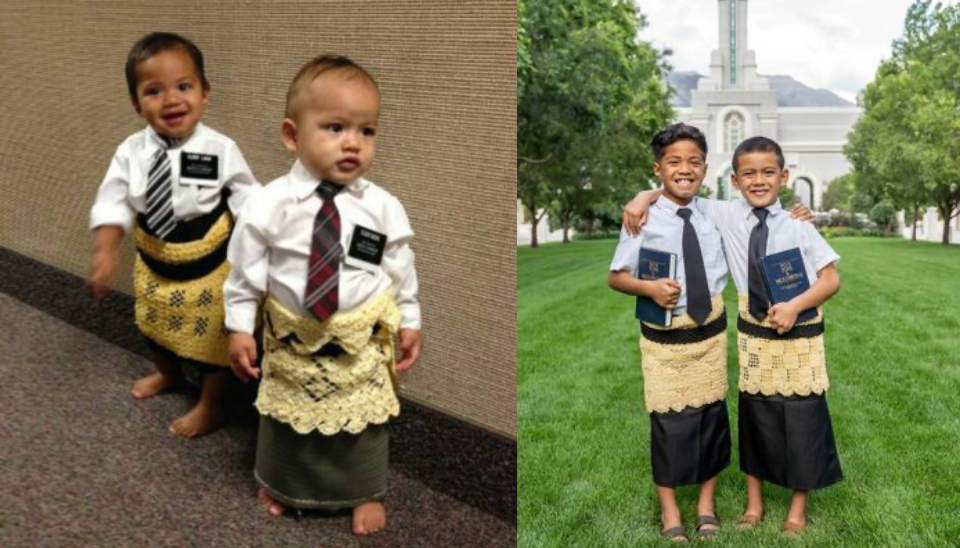 Eran niños pequeños cuando su foto se hizo viral. Estos primos se bautizarán pronto