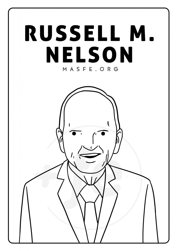 Russell M. Nelson para colorear