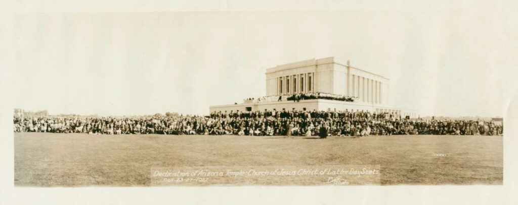 Templo de Mesa Arizona en 1927